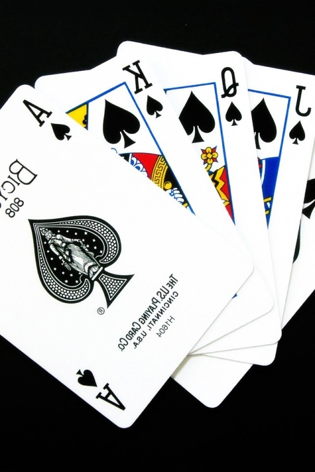 Cool Playing Card Wallpaper Playing cards iphone hd 640x960