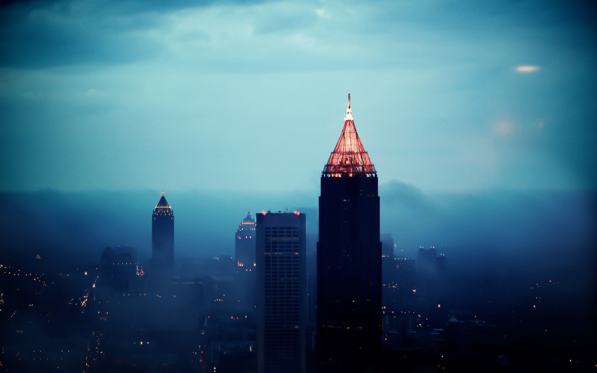 foggy city wallpaper - wallpapersafari