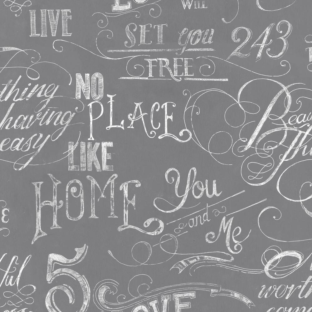 Graham Brown Gray Chalk Board Wallpaper 50 821   The Home Depot 1000x1000