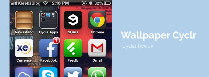 Change iPhone Wallpaper Automatically with Wallpaper Cyclr [Cydia 680x250