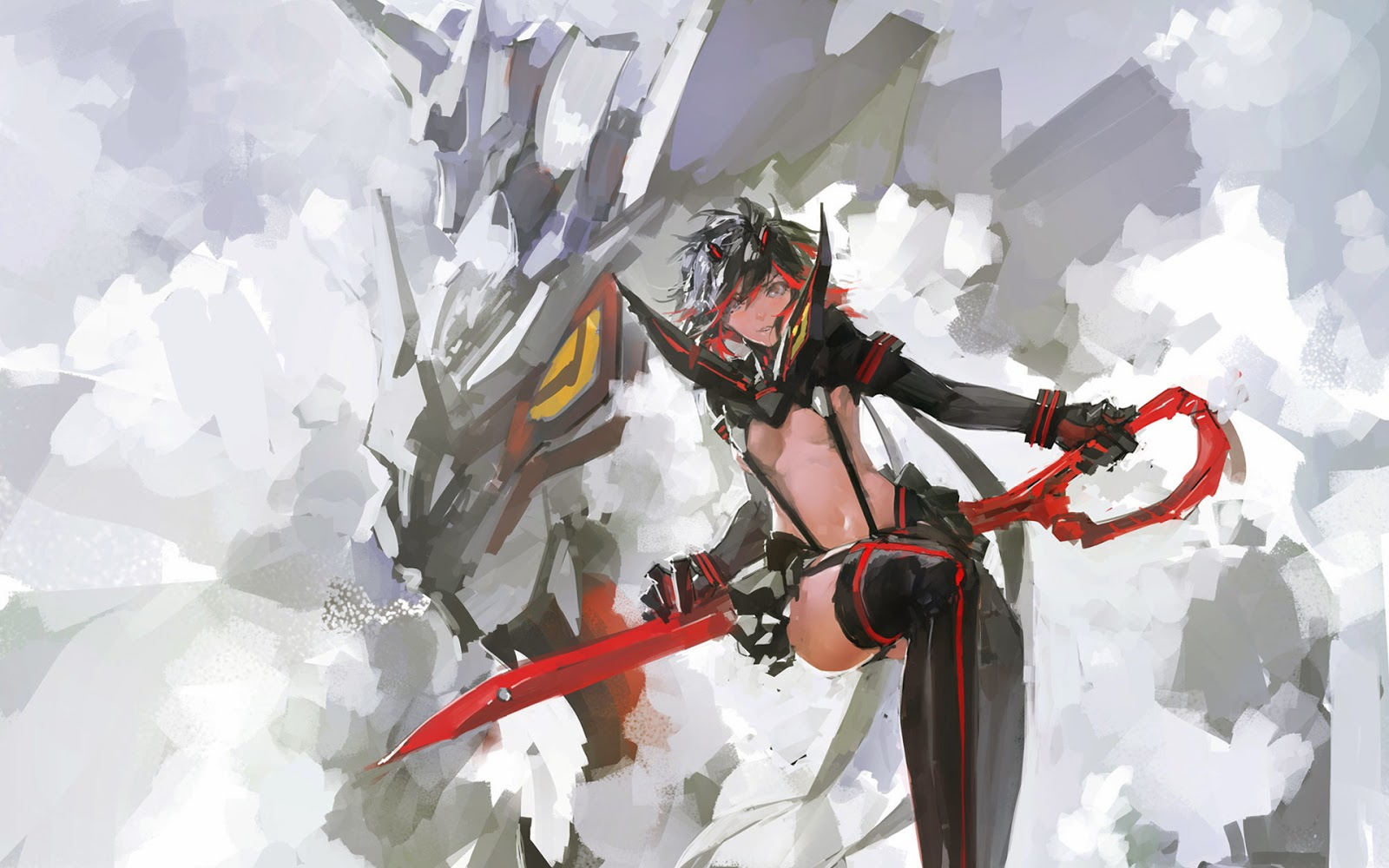 ryuko matoi anime girl kill la kill hd wallpaper image picture 1600x1000