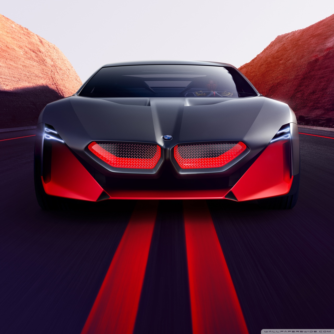 2019 BMW Vision M NEXT Sports Car Road 4K HD Desktop Wallpaper 1280x1280