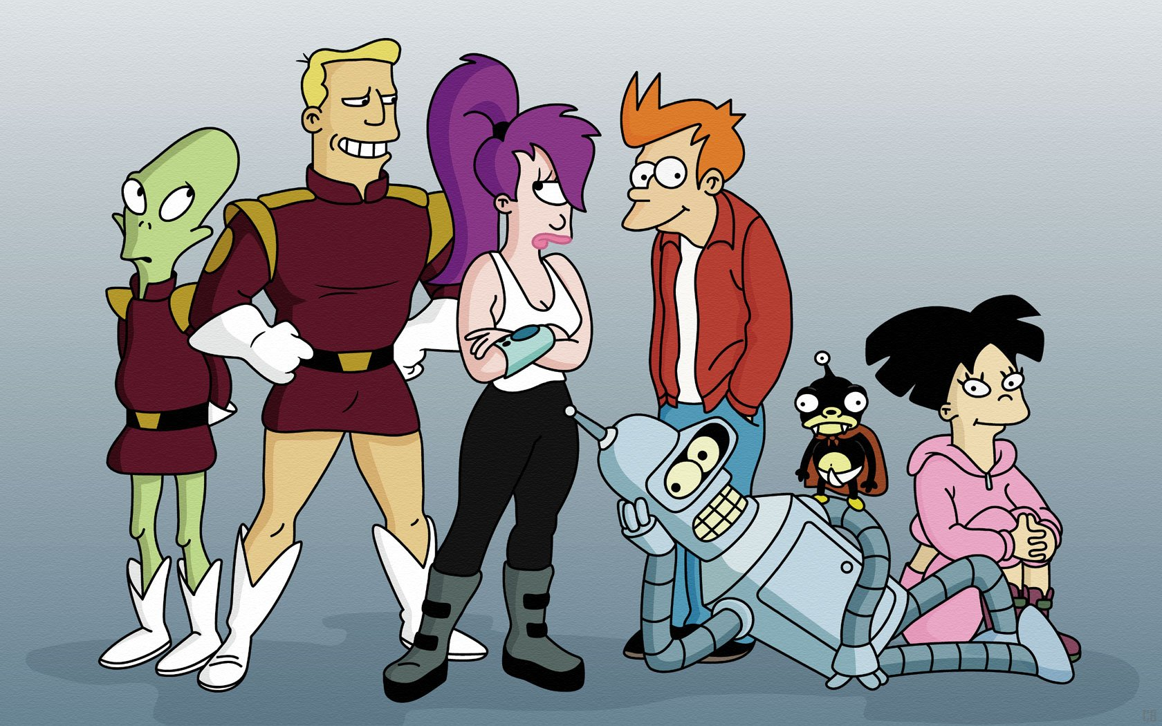 Gang Wallpapers Futurama Gang Myspace Backgrounds Futurama Gang 1680x1050