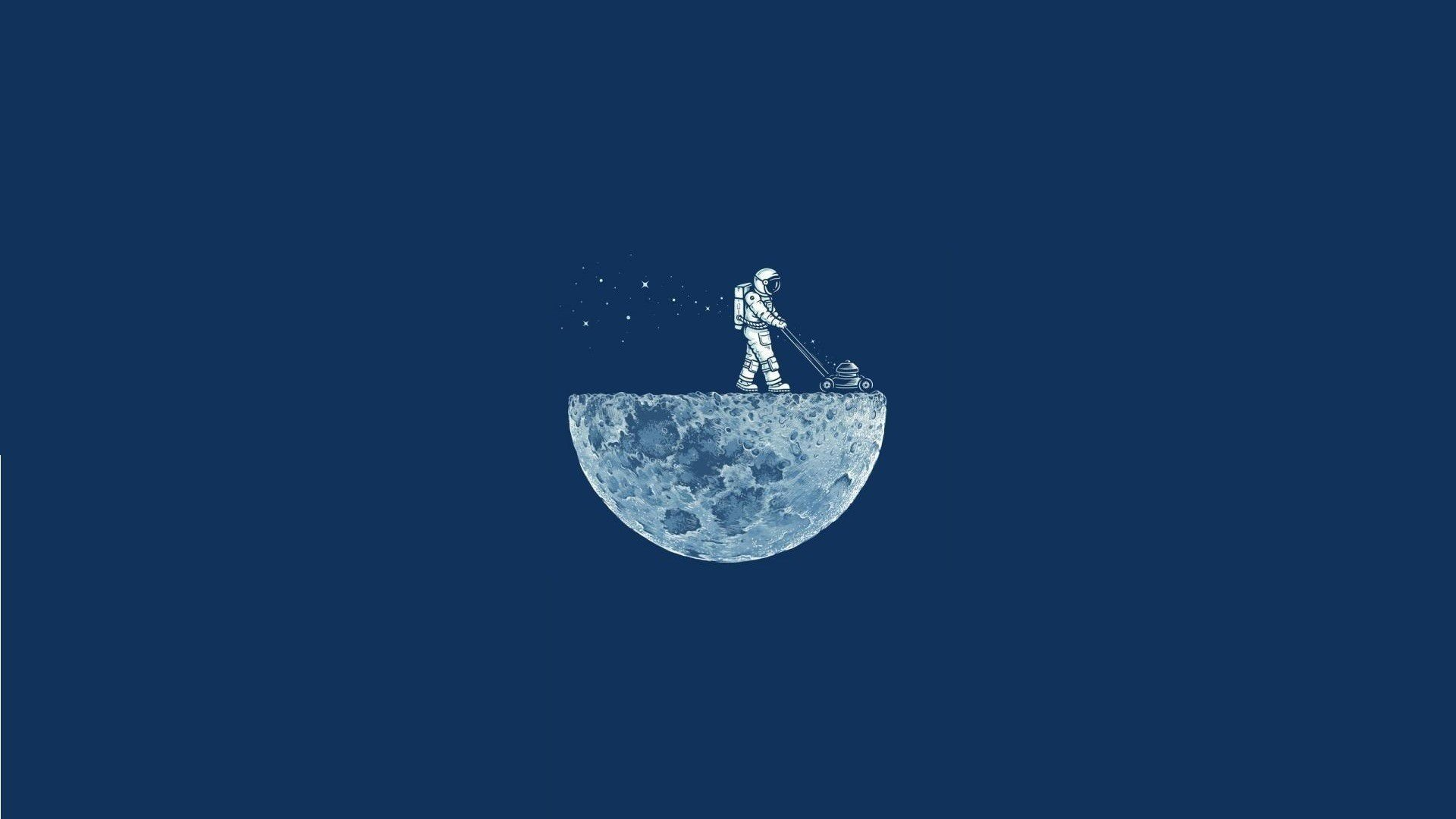 download DigitalArtio Moon Astronauts Illustration Wallpaper 1920x1080