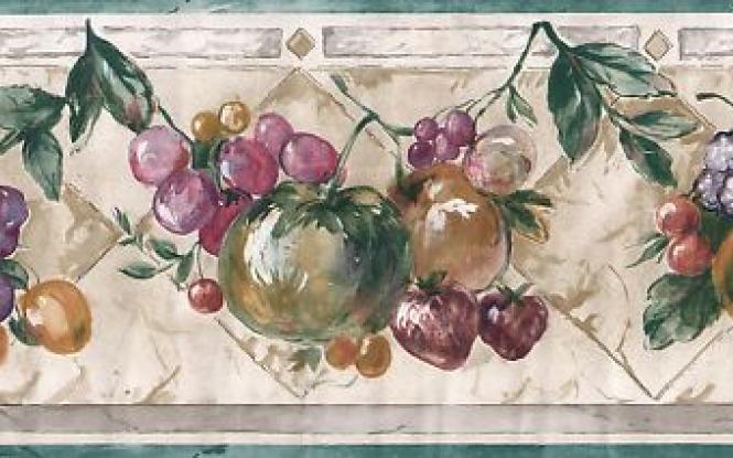 Kitchen fruit wallpaper border ebay 665x415