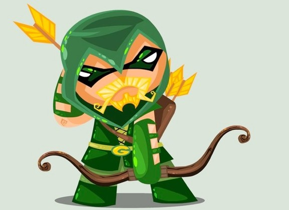 Cute DC Superheroes Art Green Arrow Orangeinks 576x419