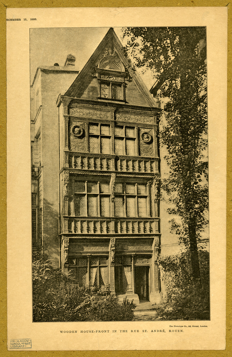 Wooden house Rouen   Glasgow School of Art Archives amp 782x1200