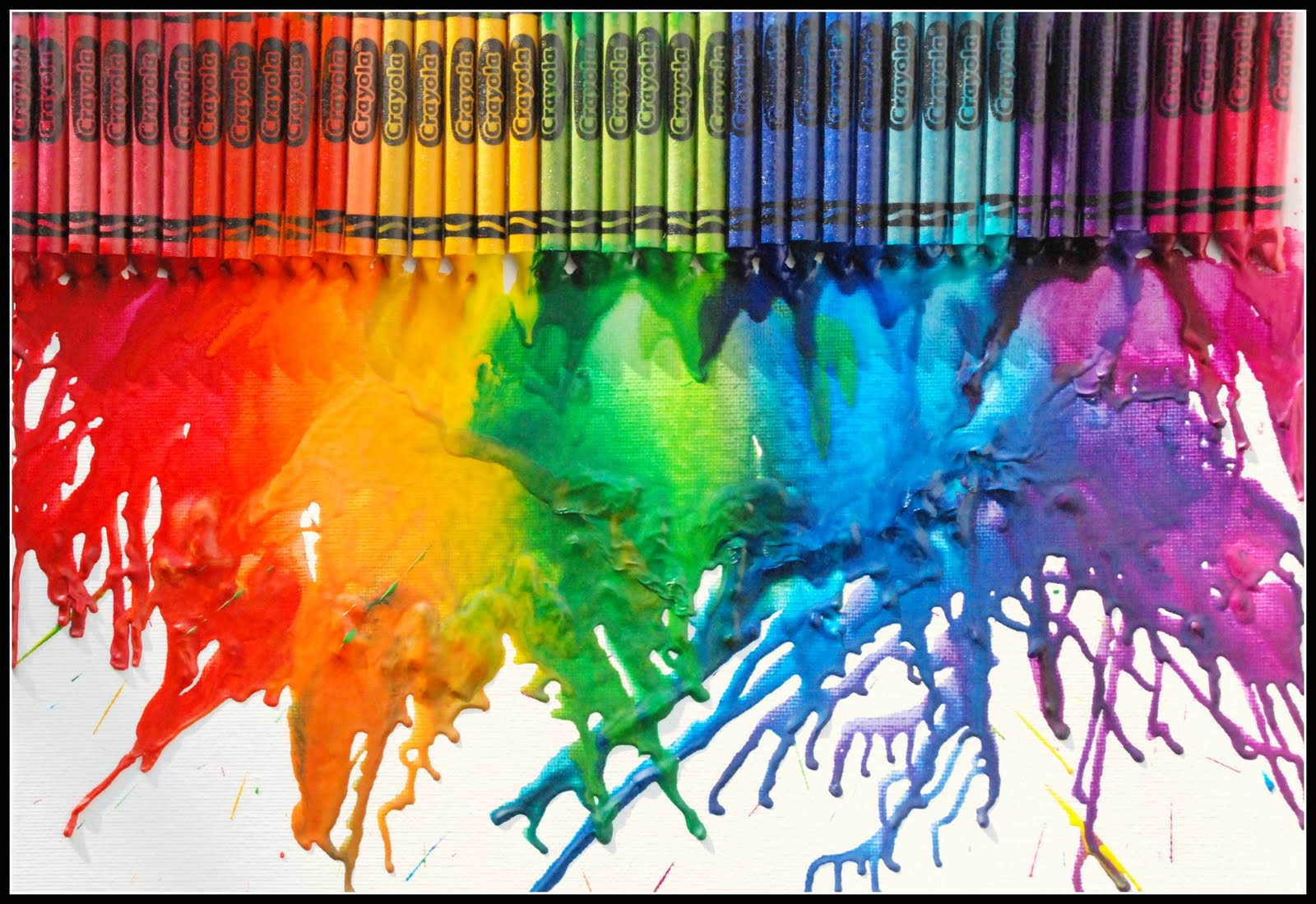 Crayon melting art images amp pictures becuo - Homemade Serenity Melted Crayon Canvas Art