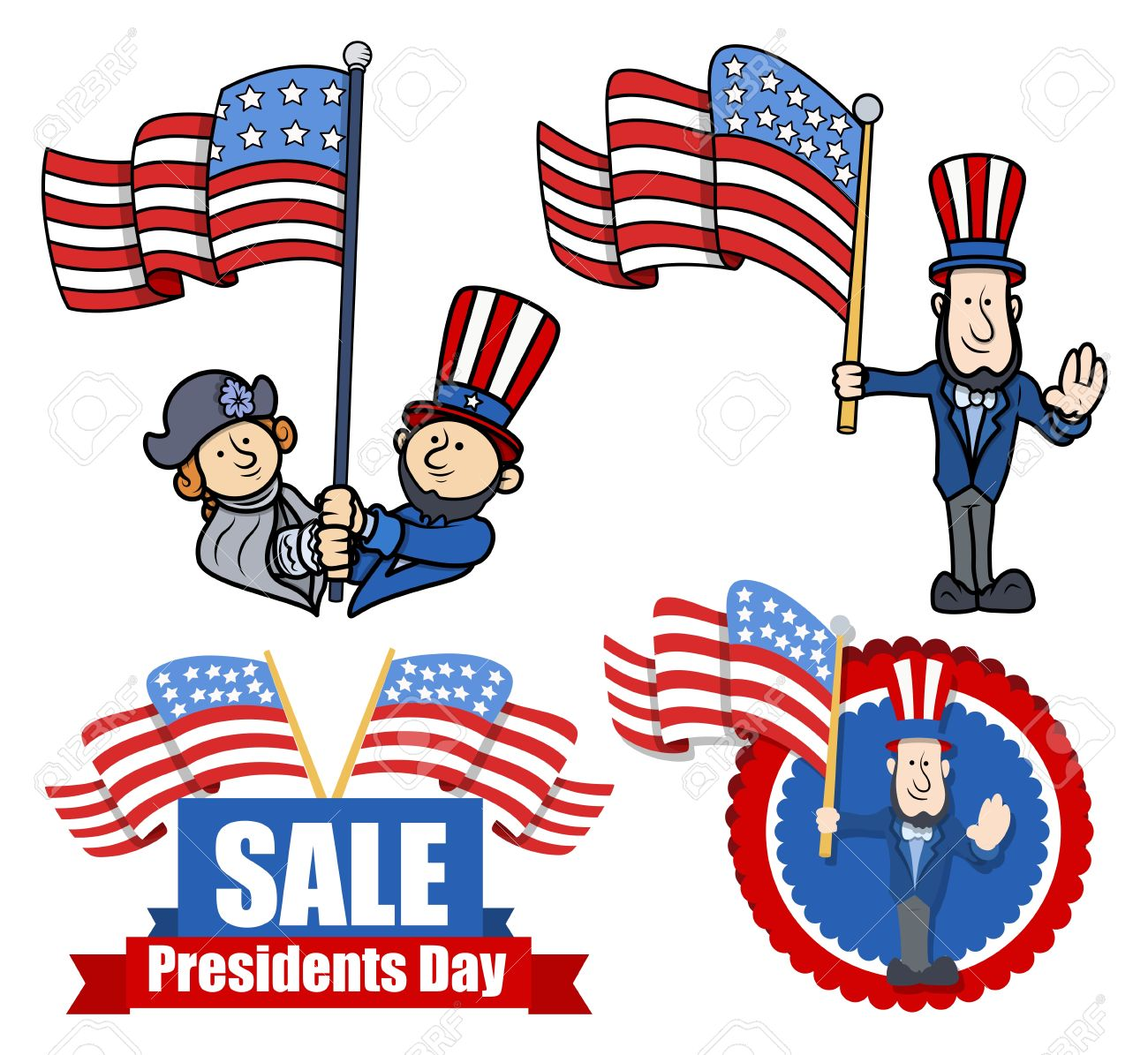 Presidents Day 2020 Clip Art 1300x1195