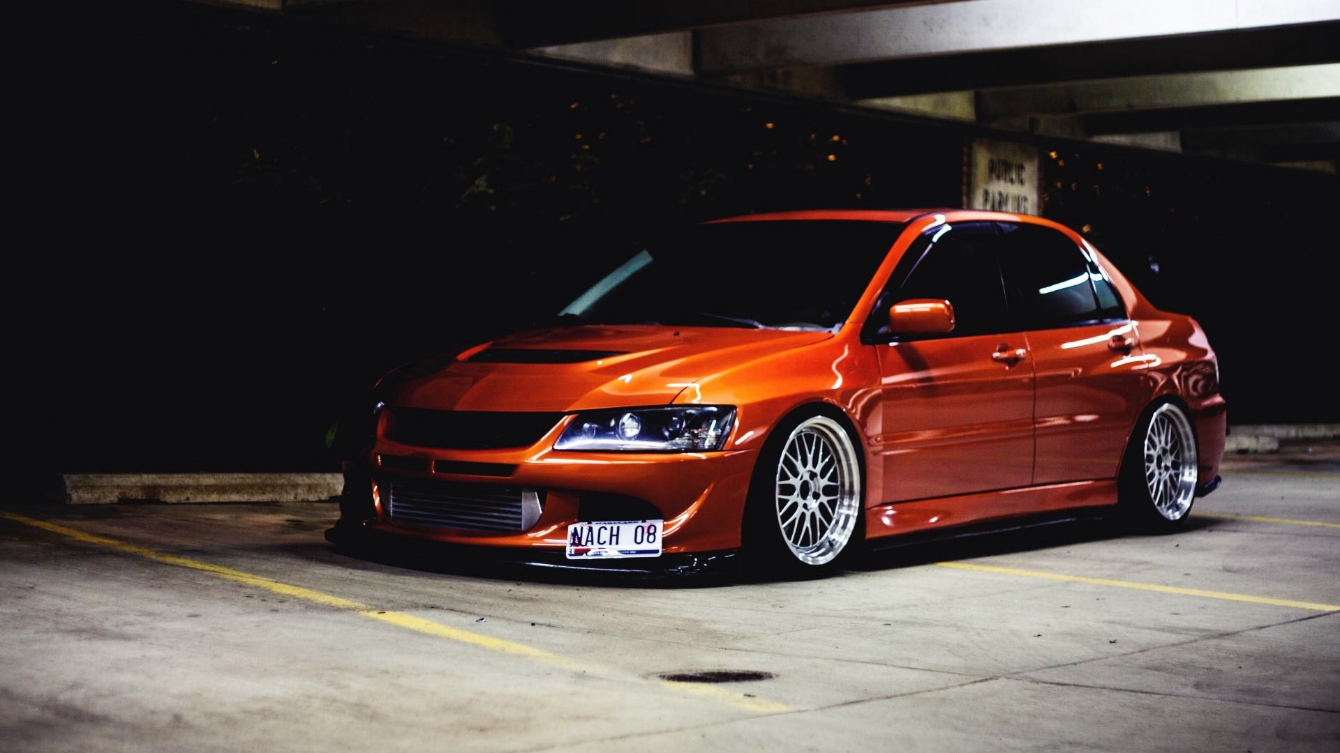 Here home car wallpapers orange car mitsubishi lancer evolution