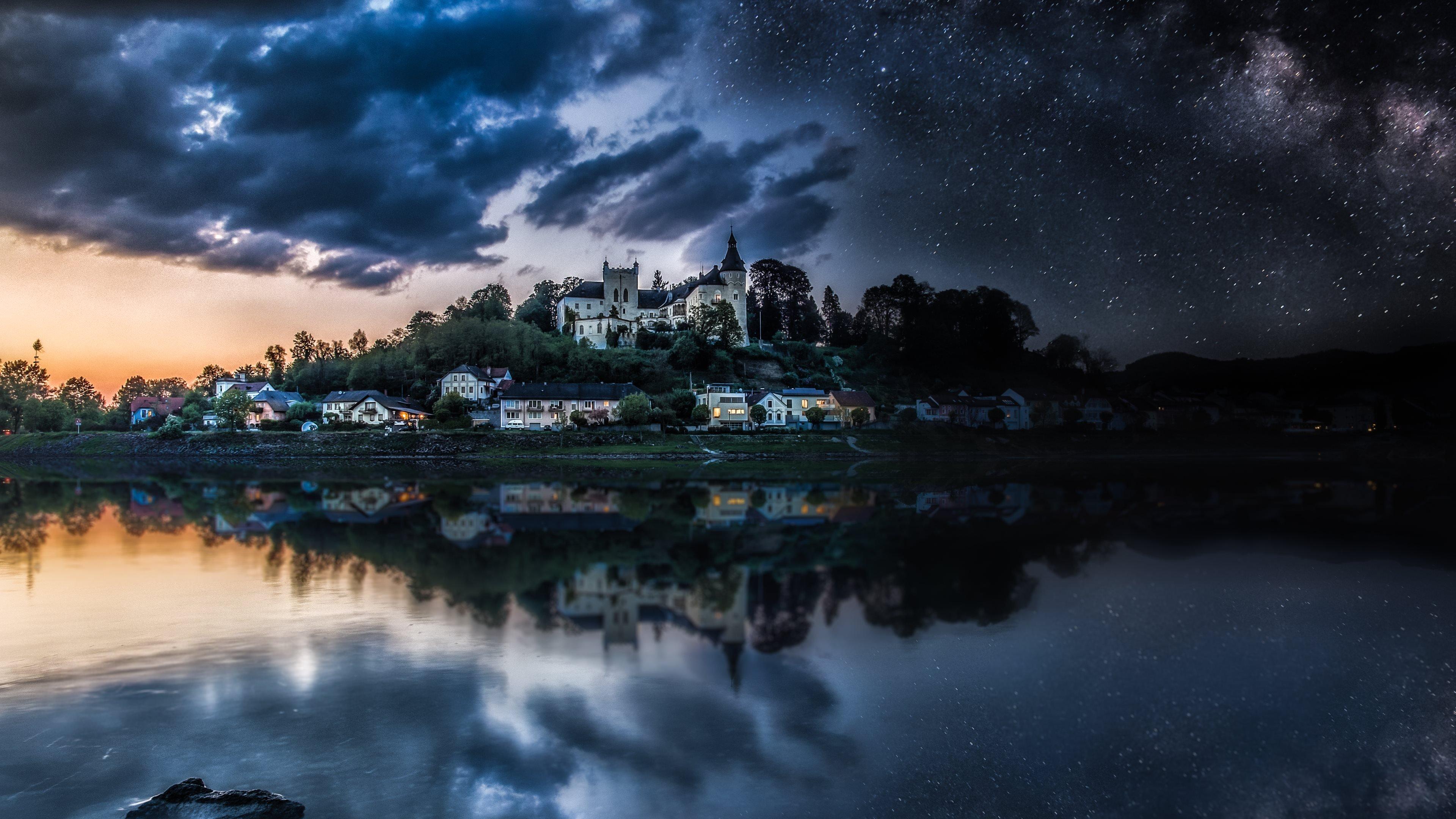 Starry Night 4k Night Sky Wallpaper Wallpapersafari