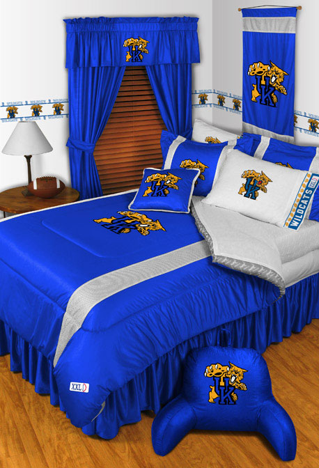 Kentucky Wildcats Side Lines Comforter Sheet Set 458x672