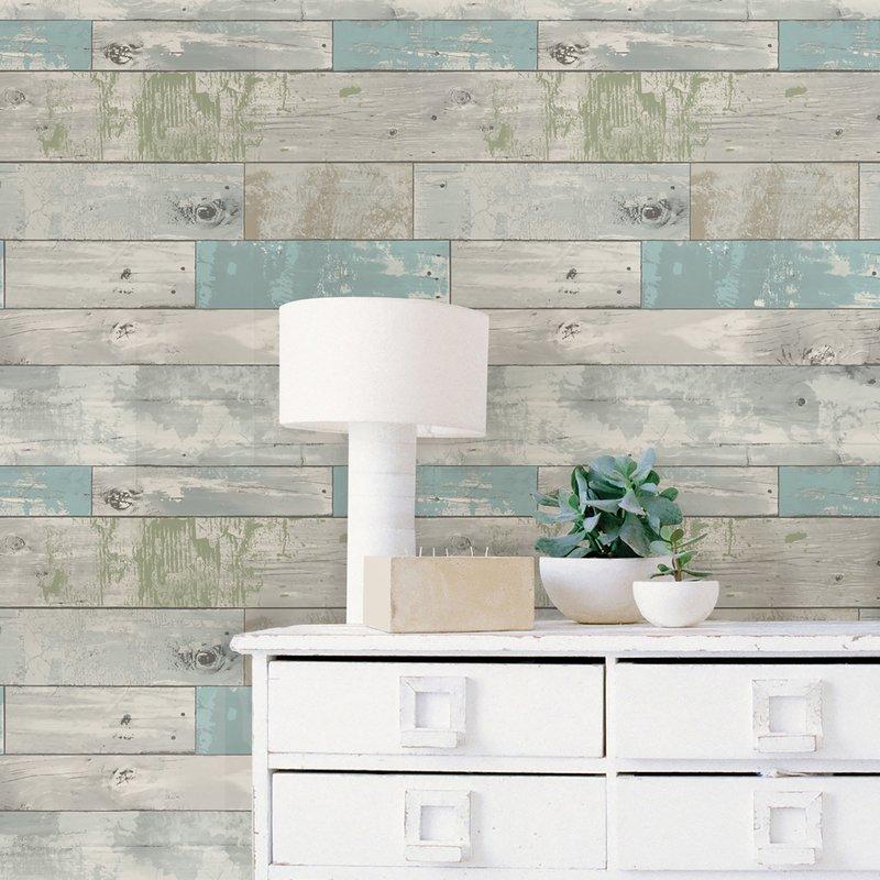 18 L x 205 W Beachwood Peel And Stick Wallpaper Roll Reviews 800x800