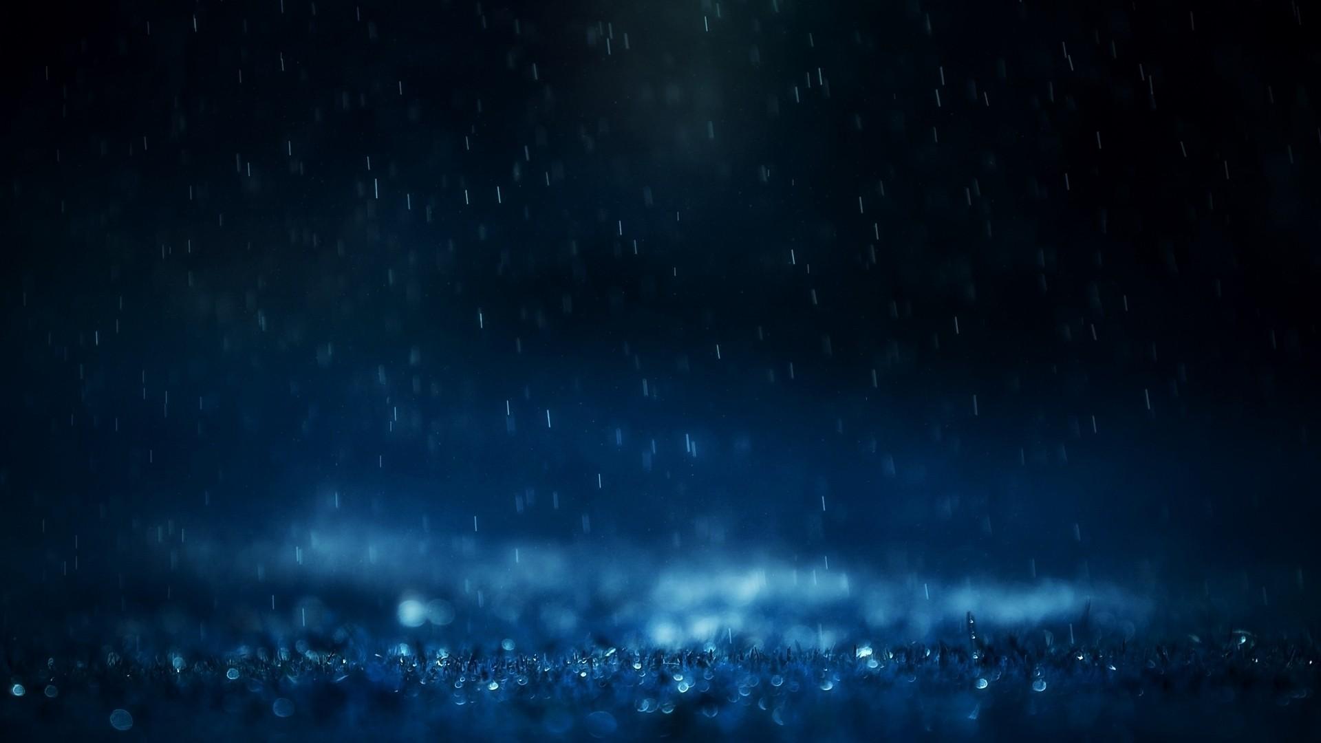 Blue Rain Wallpaper 1920x1080 Blue Rain Monochrome Ground 1920x1080