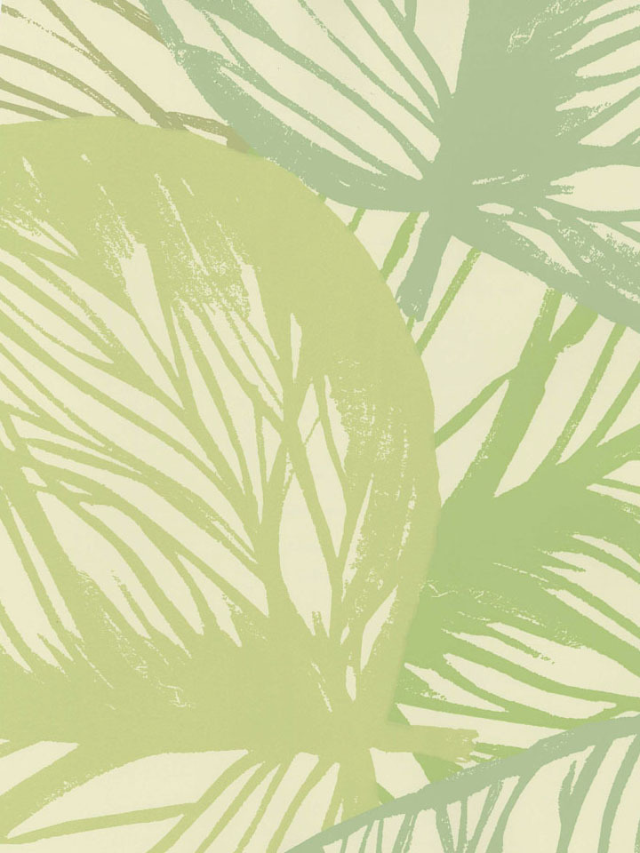 Aqua Tropical Large Leaf Wallpaper   Contemporary Modern 720x960