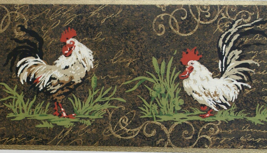 rooster wallpaper ROOSTER WALLPAPER BORDER 1024x588