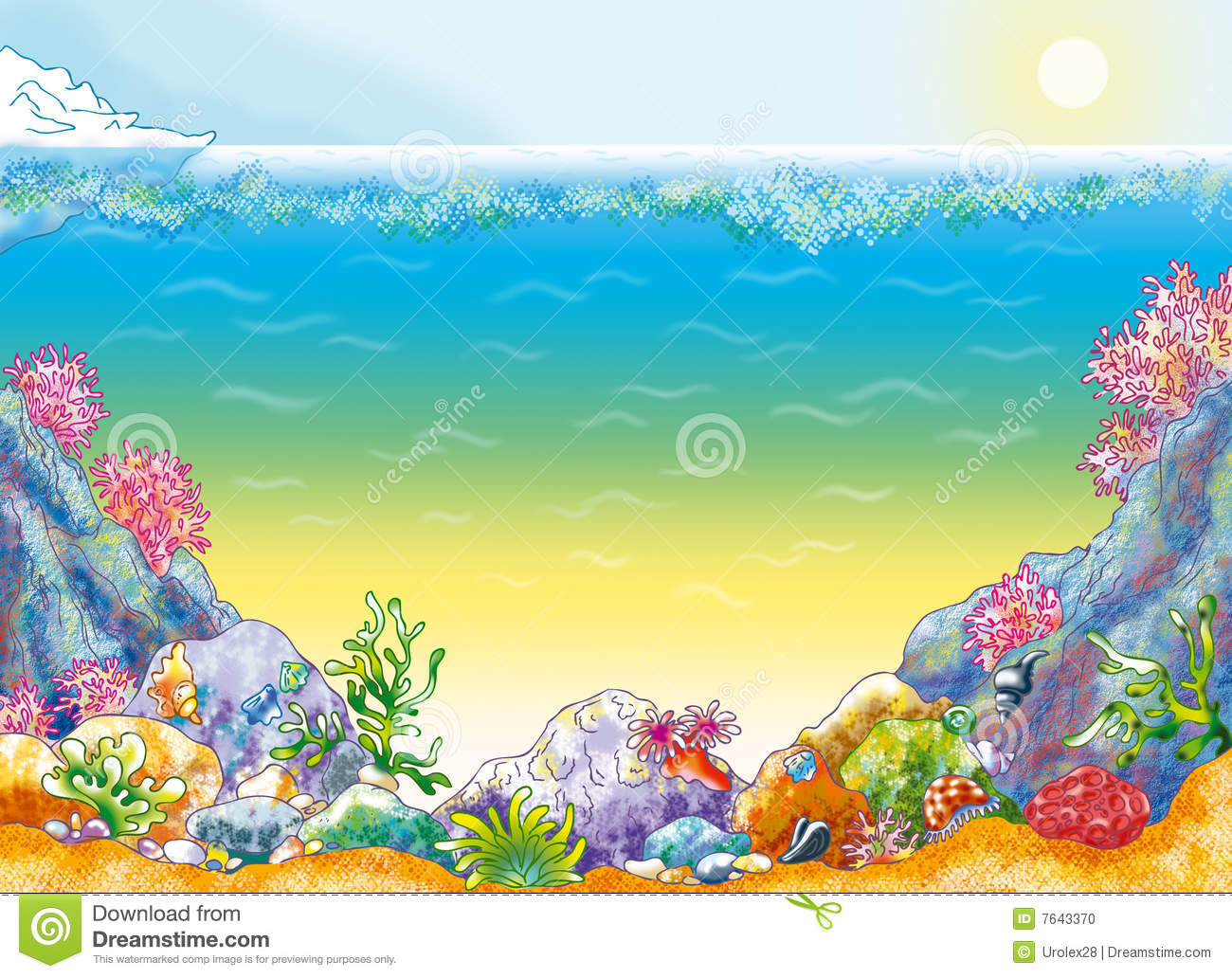 Cartoon Ocean Floor Background Images & Pictures - Becuo