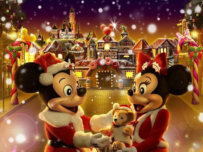 Disney Mickey Mouse Christmas Cartoon Wallpaper 700x525