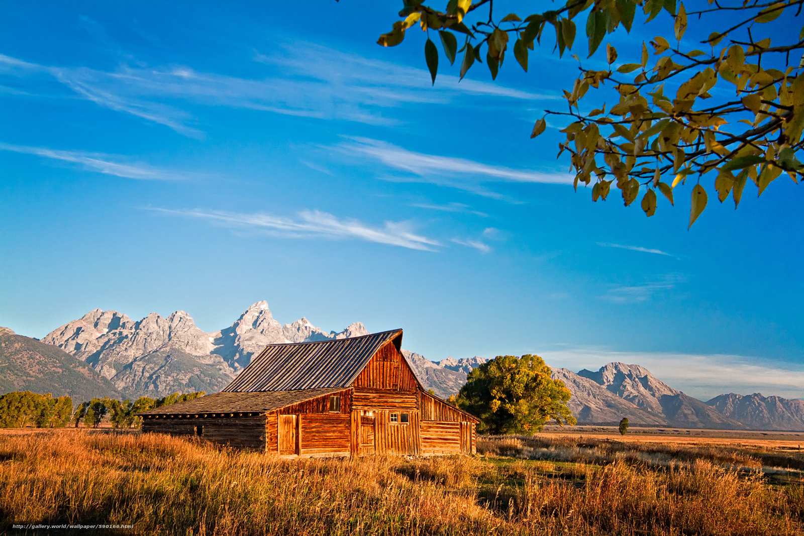 Jackson Hole Wyoming desktop wallpaper in the resolution 1600x1067
