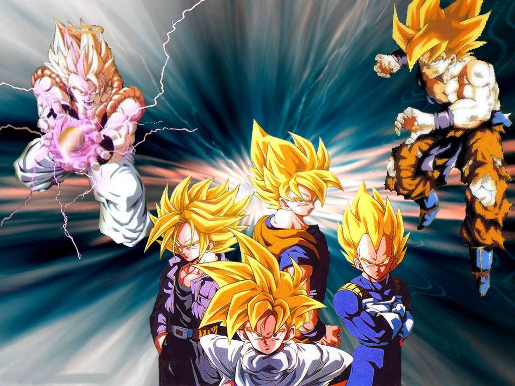 Super Saiyans Super Saiyans Wallpaper 1024x768