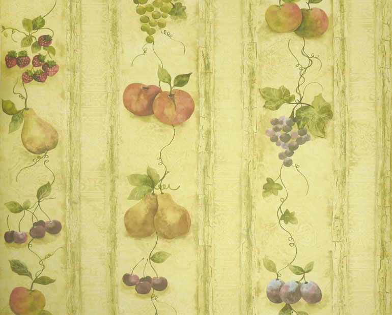 Details about KITCHEN FRUITSGRAPES PEARAPPLE Wallpaper KS24882 770x620