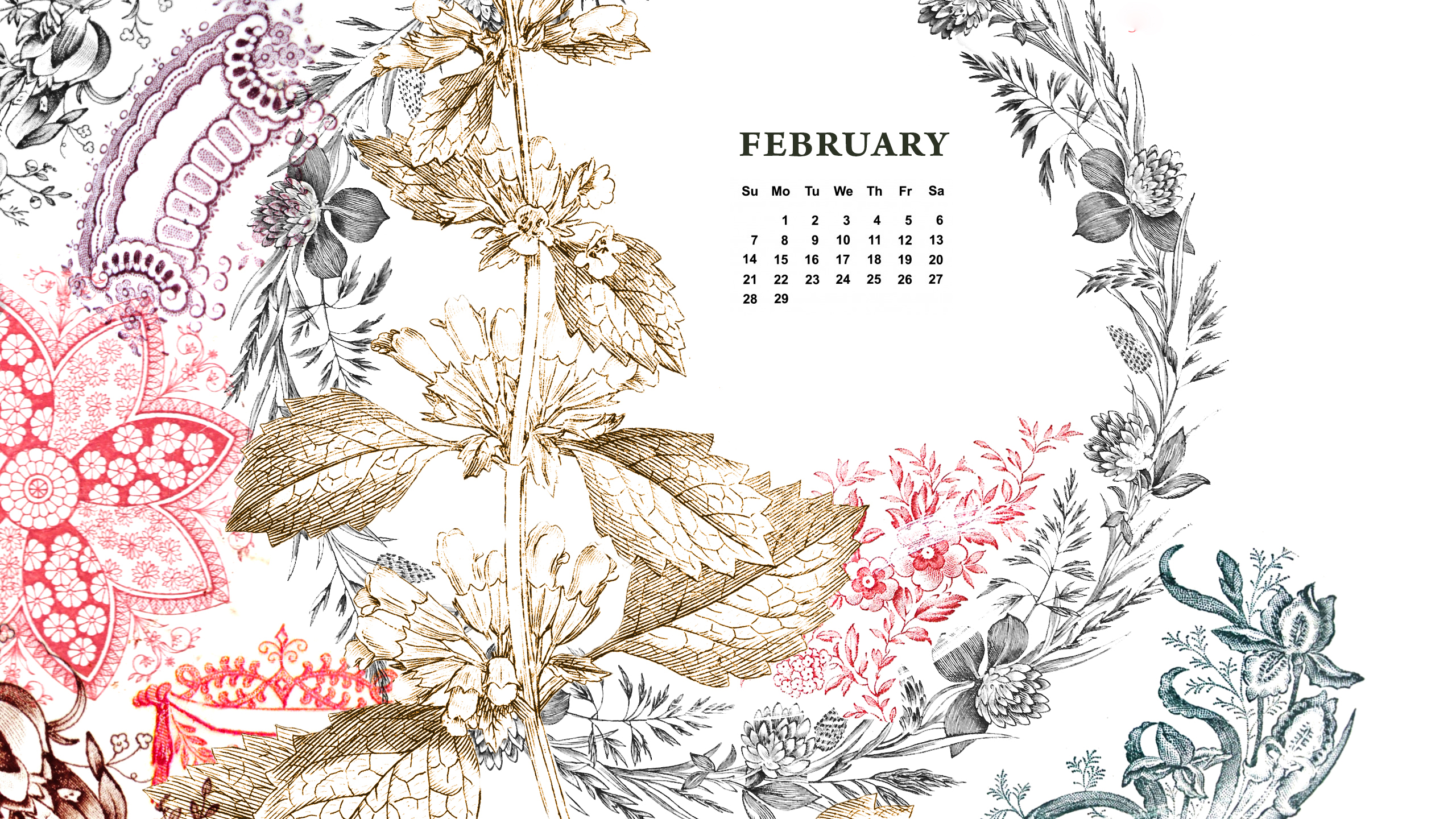 February Desktop Wallpapers HD 2560x1440