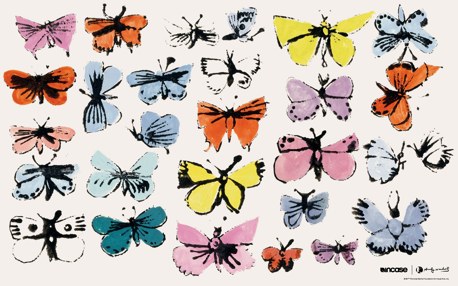 Painting Andy Warhol Butterflies wallpapers and images   wallpapers 1920x1200