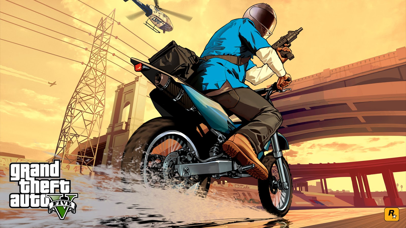 DaeTube GTA V HD Wallpaper Desktop Background Sceenshoot Game GTA 5 1600x900
