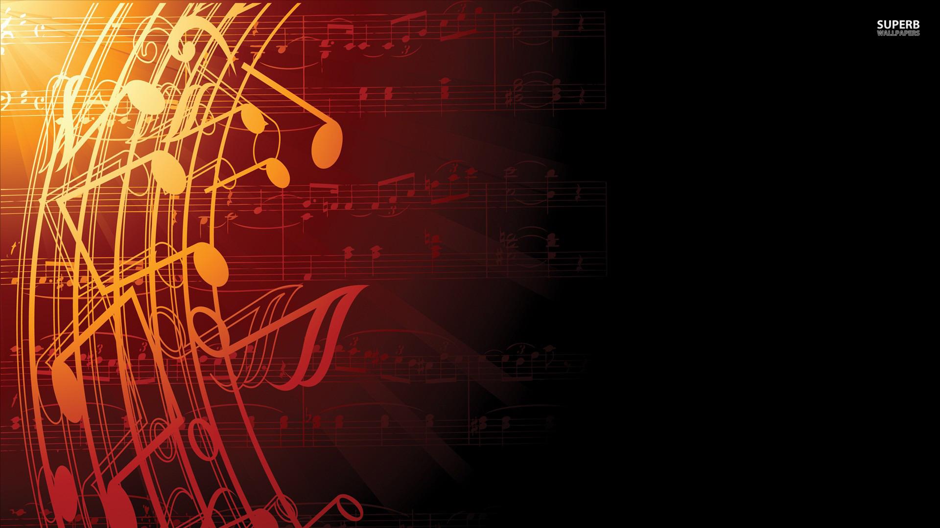 Wallpaper Music Notes Desktop Image 1920x1080
