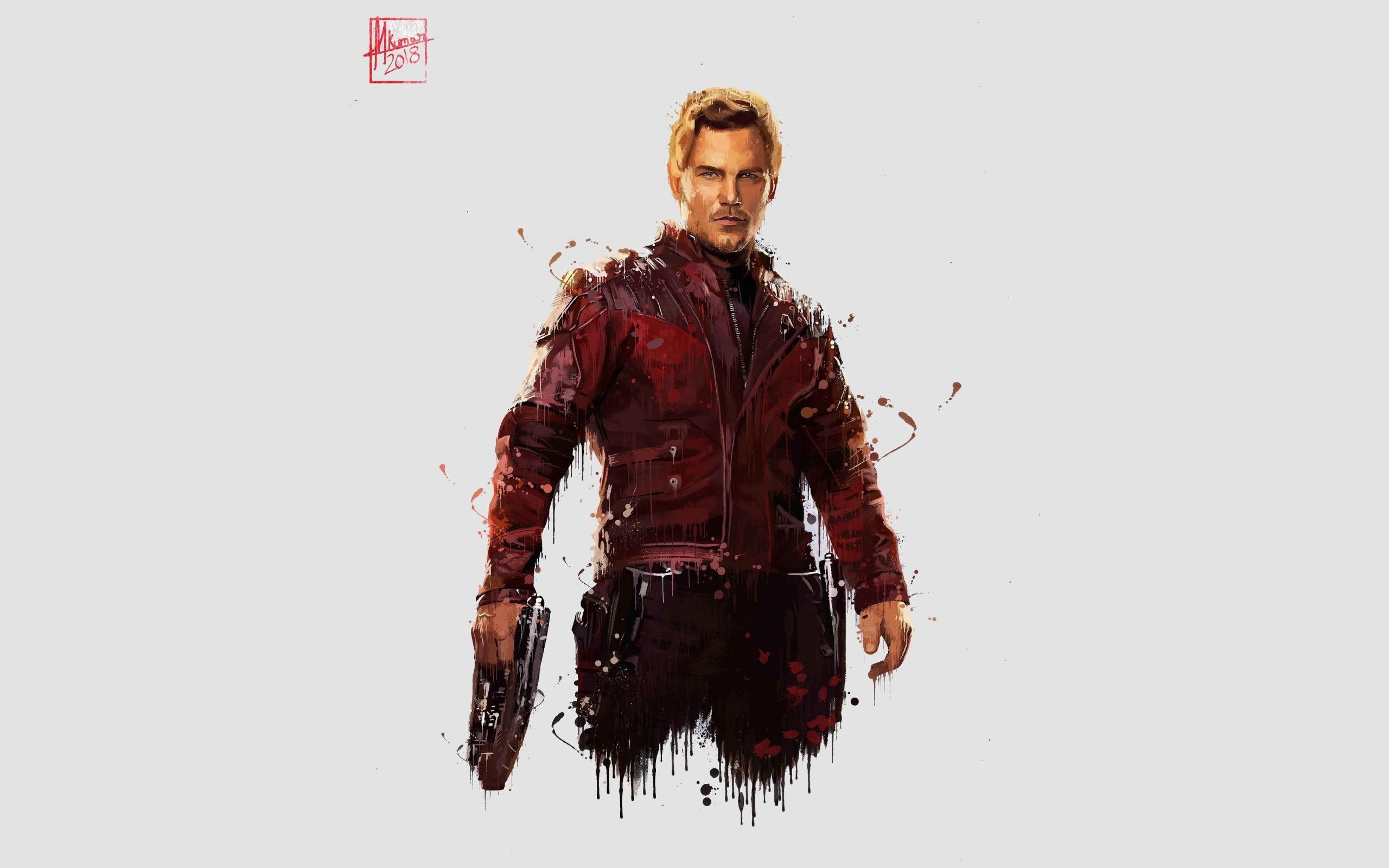 Wallpaper of Avengers Infinity War Chris Pratt Marvel Comics 2560x1600