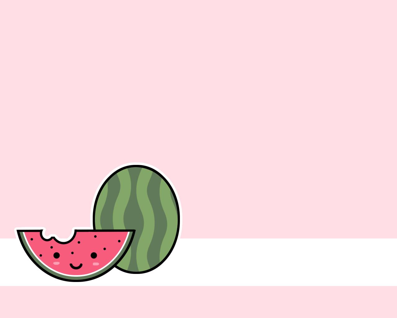 Watermelon   Kawaii Wallpaper 535362 1280x1024