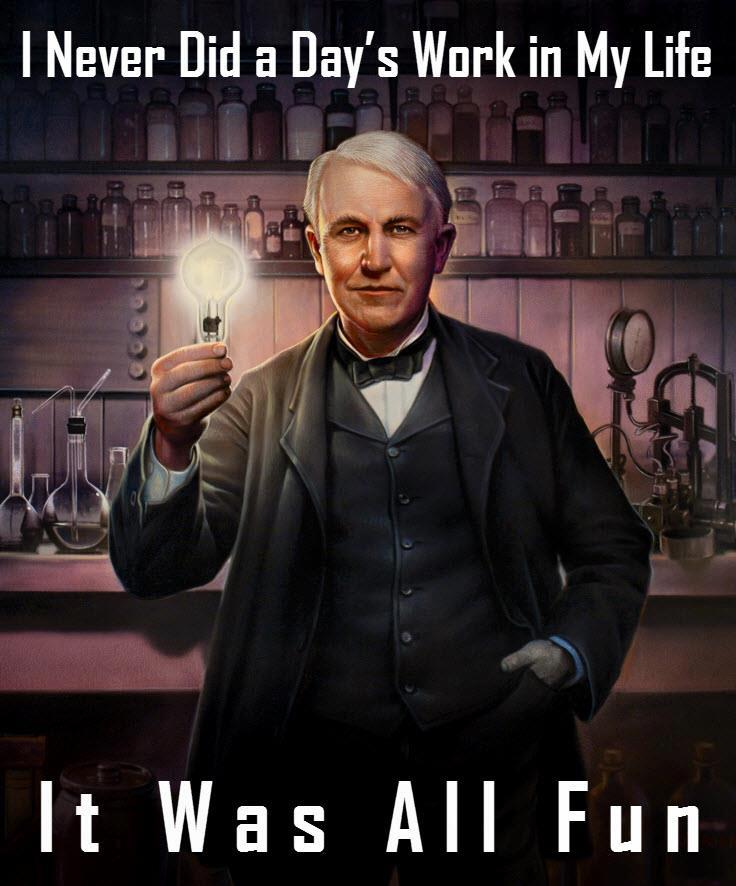 Motivational Wallpaper on work fun by Thomas Alva Edison Dont 736x886