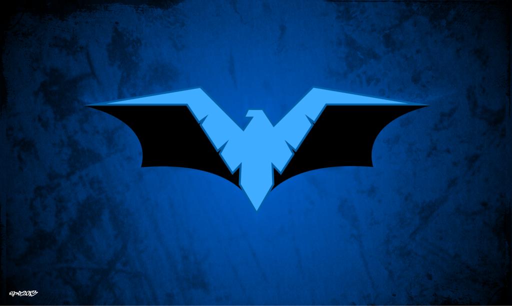 Nightwing   Batman Logo Wallpaper by elclon 1024x612