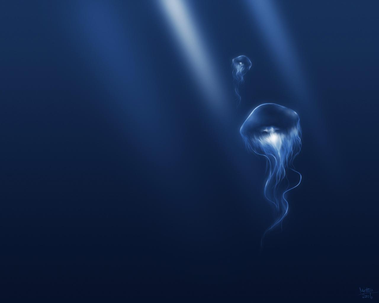 Deep Blue Sea by TheMinttu   Desktop Wallpaper 1280x1024