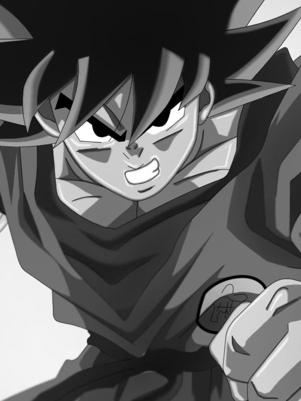 Download Red Goku Dragon Ball Z screensaver for Amazon Kindle 3 600x800