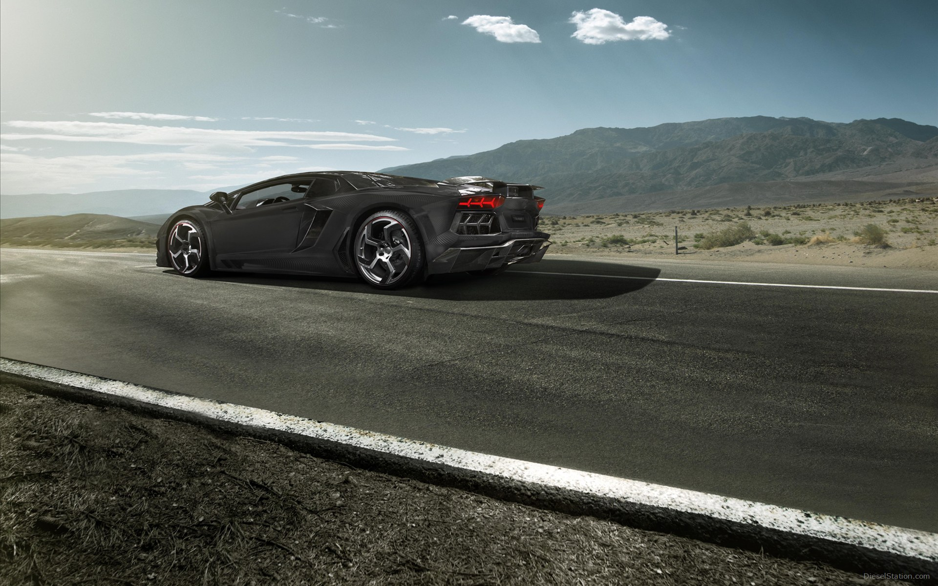 Lamborghini Aventador Black Diamond Model   Mansory Widescreen Exotic 1920x1200