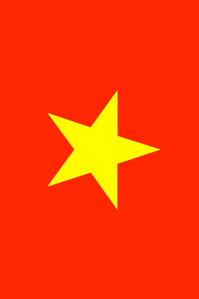 Vietnam Flag iPhone Wallpaper HD 640x960
