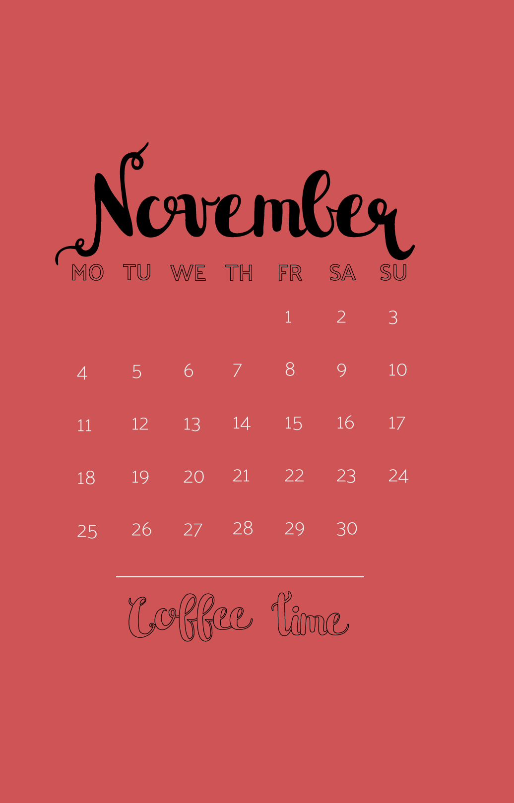 iPhone November 2019 Wallpaper Latest Calendar 1036x1619