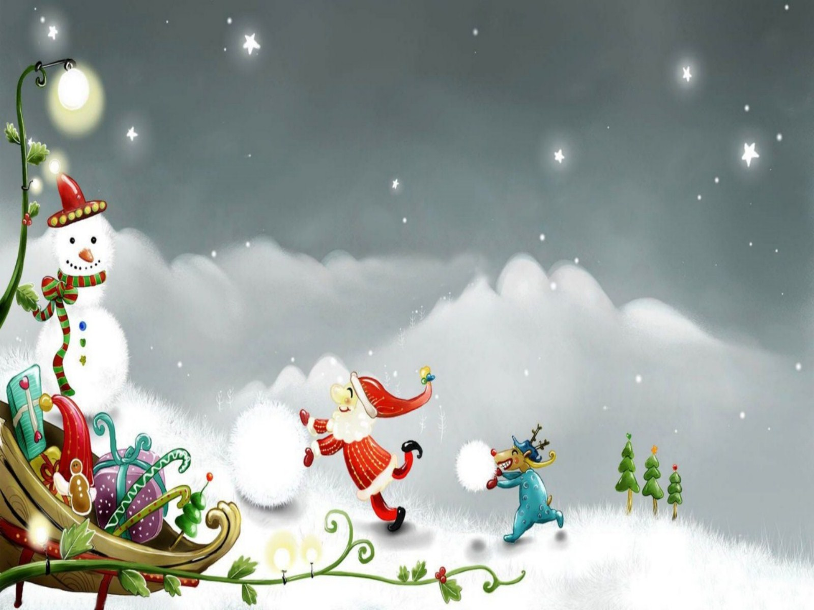 Christmas Background Wallpapers WIN10 THEMES 1600x1200