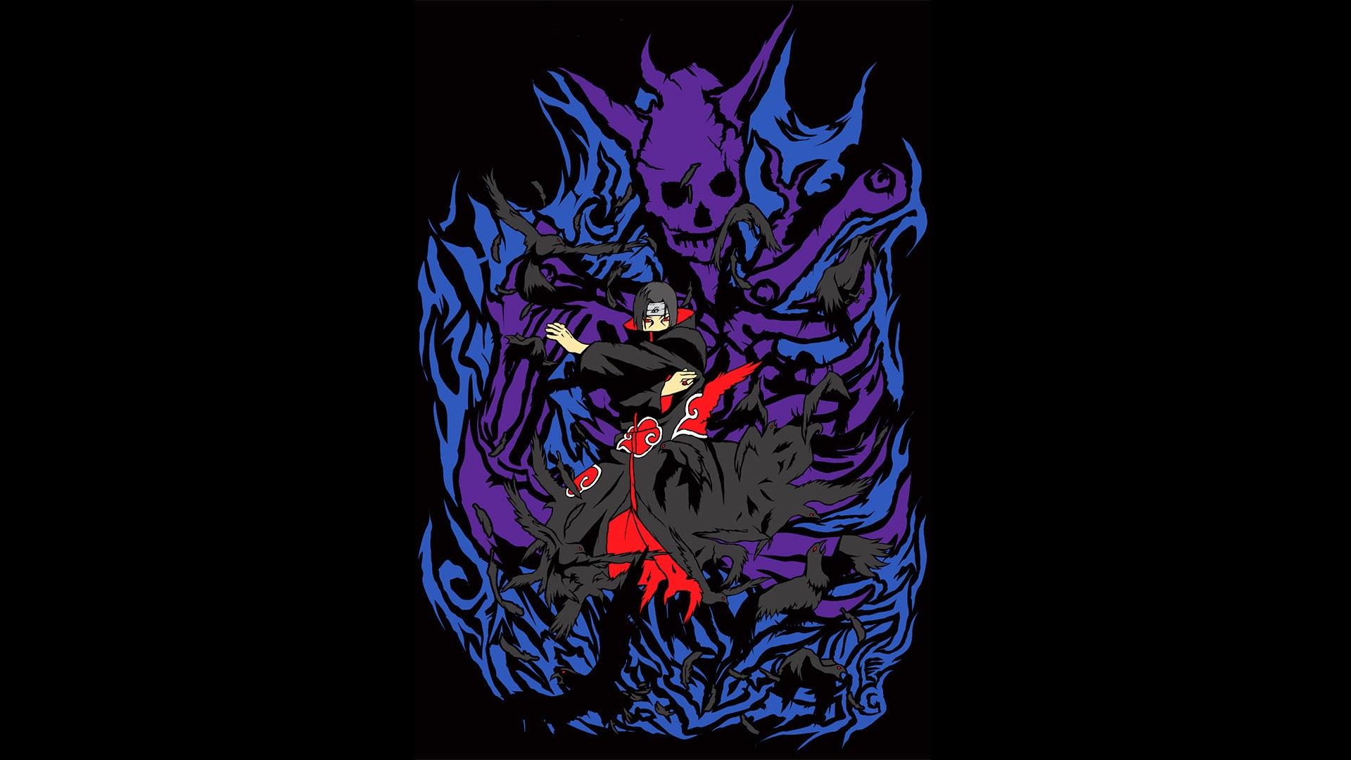 itachi uchiha susanoo crow anime picture hd wallpaper 1920x1080 09 1920x1080