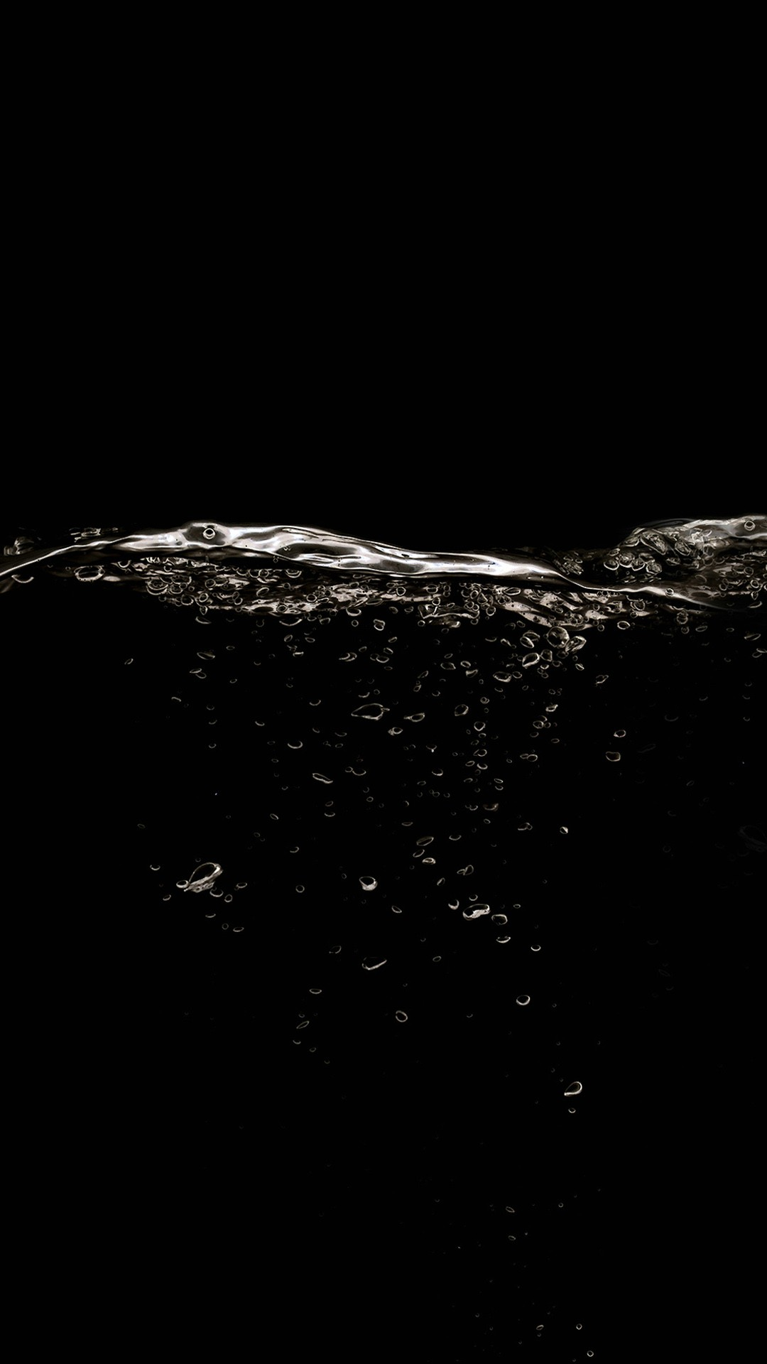 Black background and water HD samsung galaxy s4 wallpaper 1080x1920