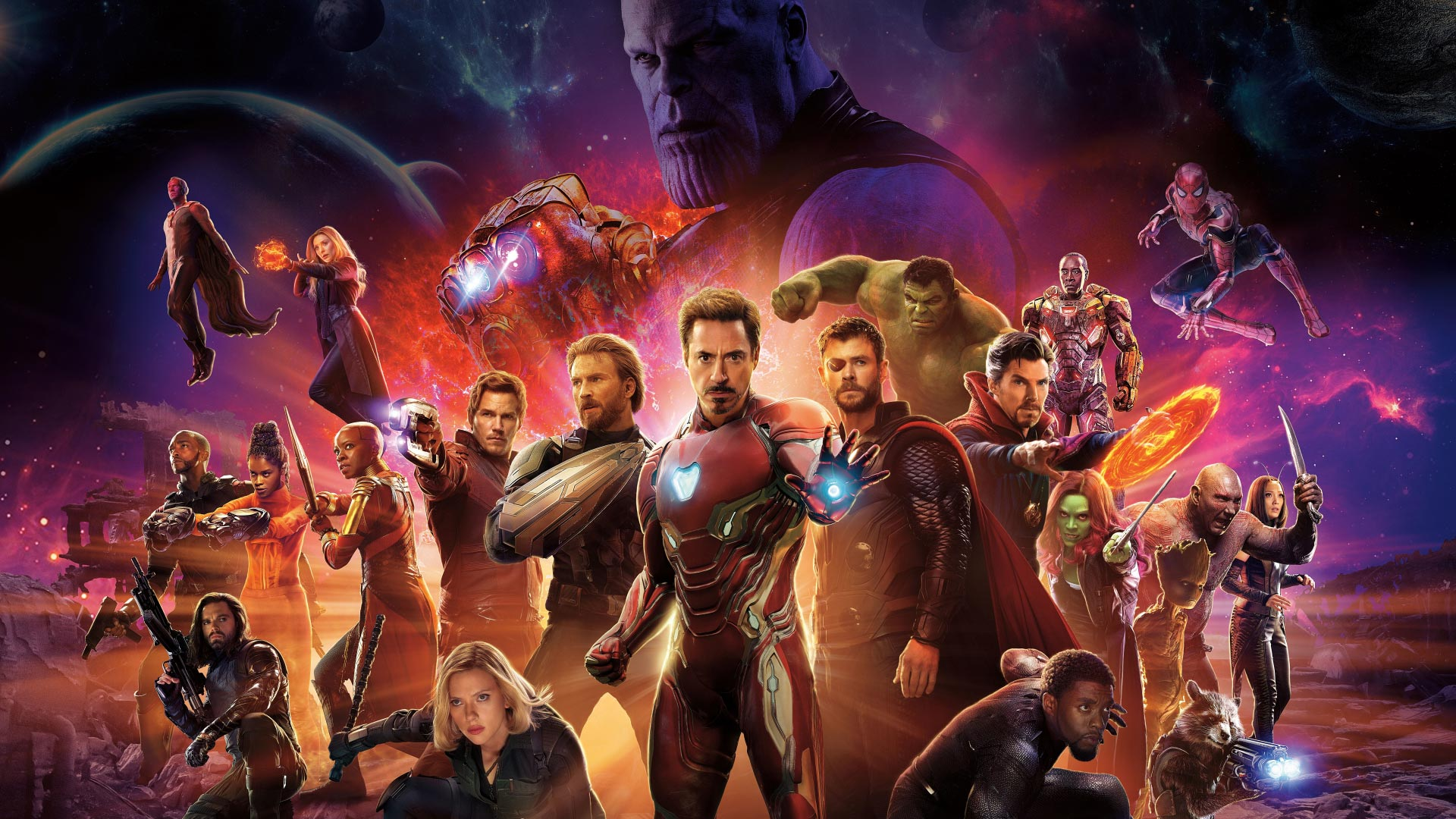 Avengers Infinity War Theme for Windows 10 8 7 1920x1080