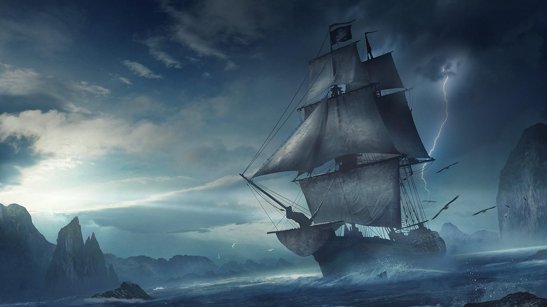 Pirate Ship Wallpapers Hd On Wallpaper 1080p HD Awesome Art 1920x1080