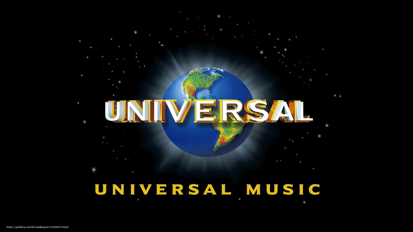 Wallpaper Music Universal Brand Mark Desktop 1600x900