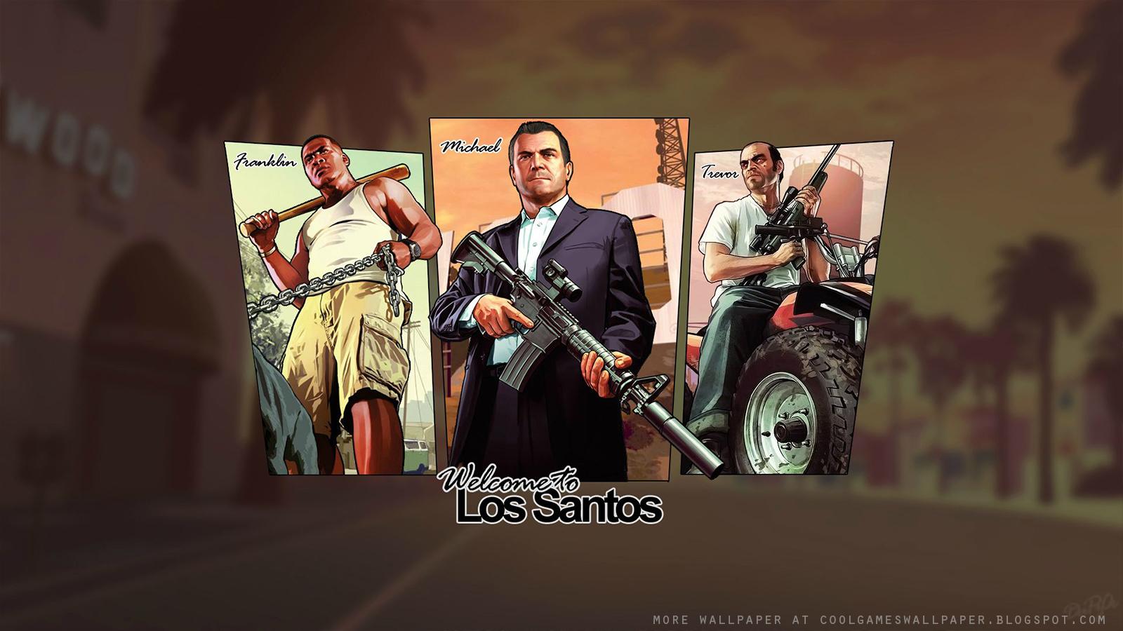 GTA V Artwork Wallpaper 1   Cool Games Wallpaper 1600x900
