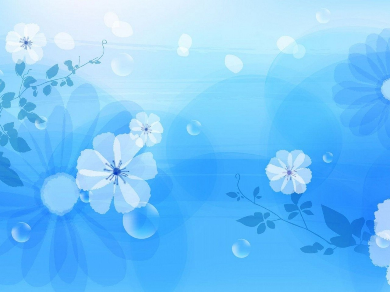 69 Blue Floral Background On Wallpapersafari