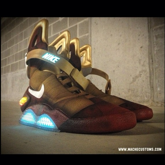 Download nike air mag iron man customs by mache 03 570x570