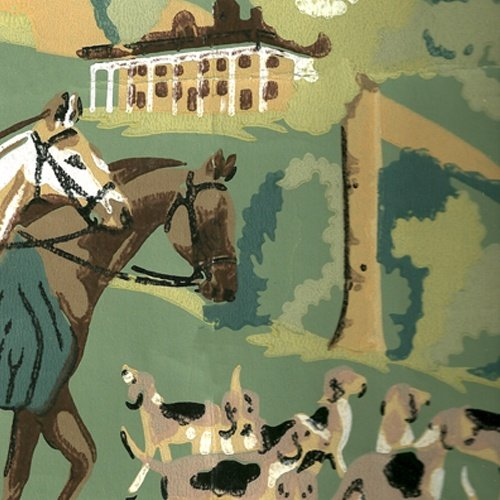 Fox hunting wallpaper for my equine themed room in my future home 500x500