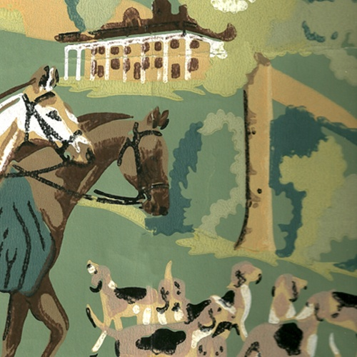Fox hunting wallpaper for my equine themed room in my future home.
