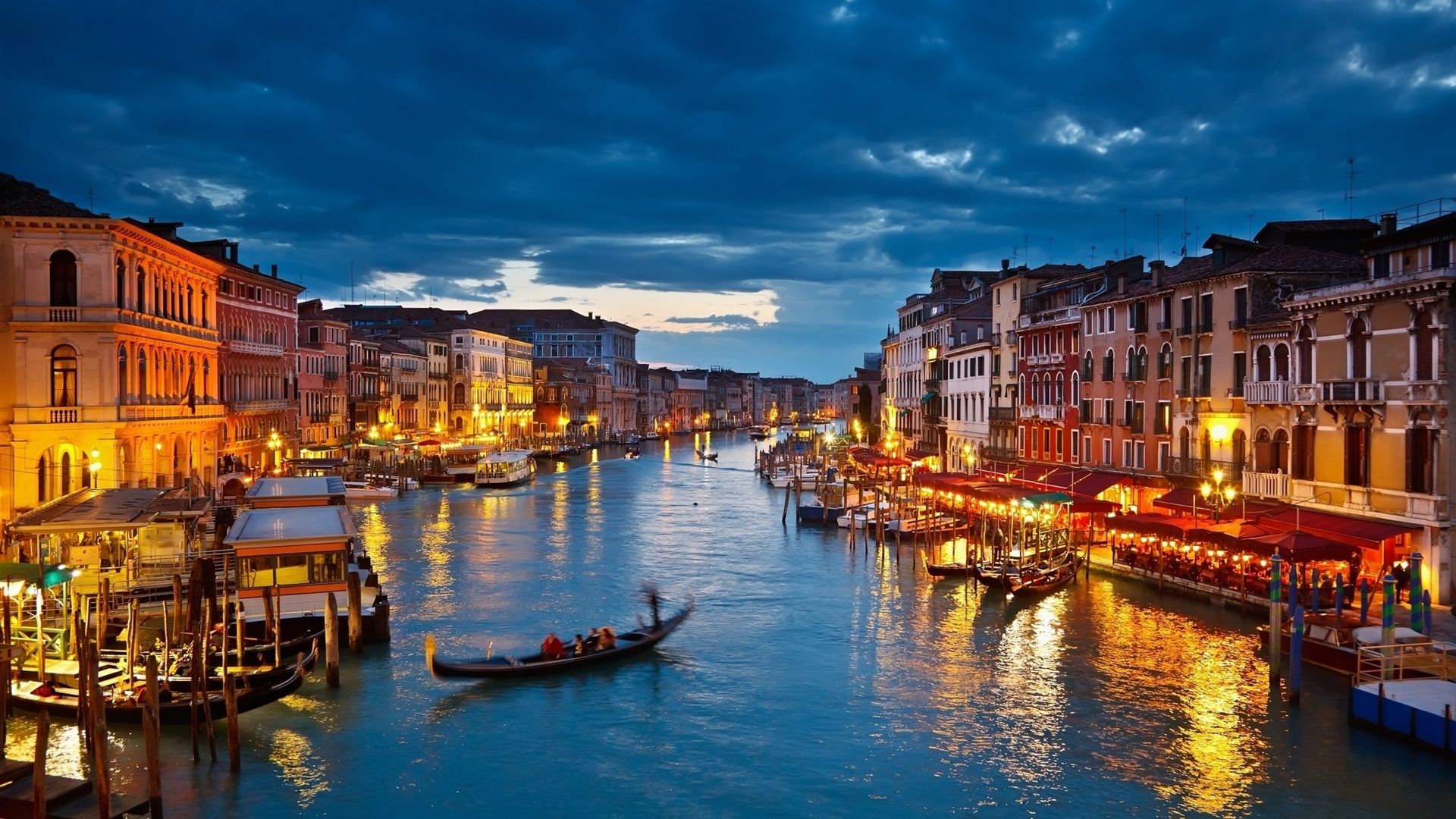 Venice At Night HD Wallpaper Background Images 1920x1080